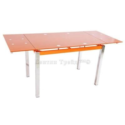 Стол обеденный раскладной B017(C) Orange (без цветка)-3
