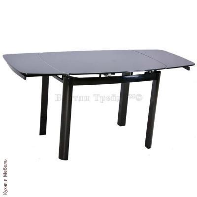 Стеклянный стол 6236C Black/Black-2