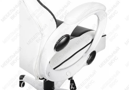 Игровое компьютерное кресло Lider черно-белое-1
