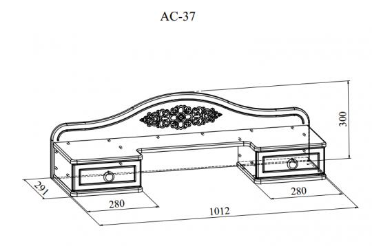Полка Ассоль Плюс АС-37-2
