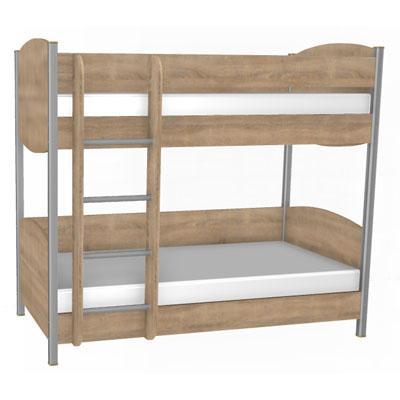 Двухъярусная кровать 900х1900 (с ортопедом, без матраса) КР-123-1