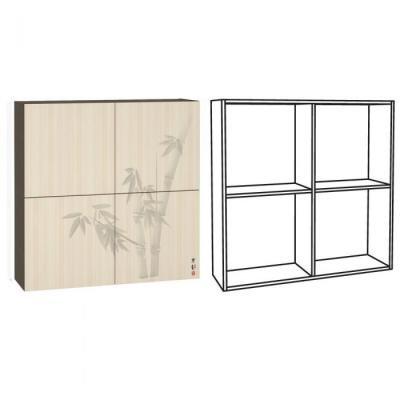 Шкаф навесной Киото 904 -2