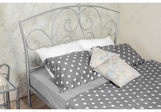 Кровать Vita 160 х 200 серебристая-1