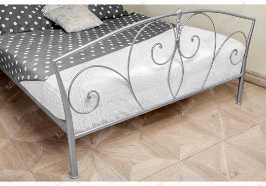 Кровать Vita 160 х 200 серебристая-4