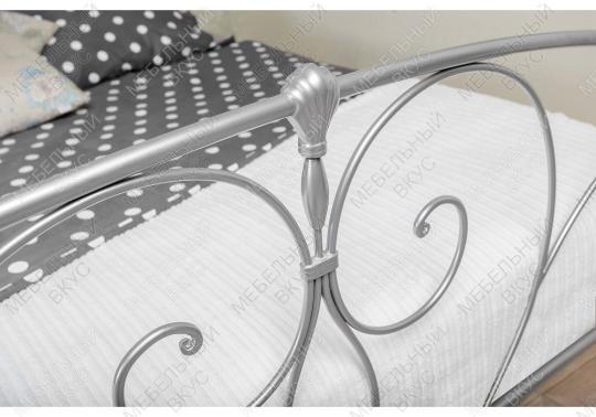 Кровать Vita 160 х 200 серебристая-5