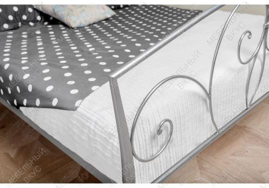 Кровать Vita 160 х 200 серебристая-6
