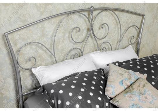 Кровать Vita 160 х 200 серебристая-7