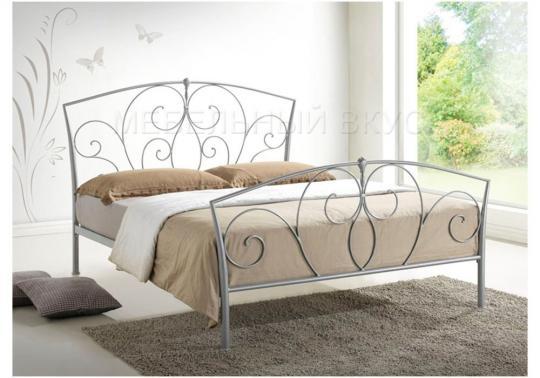 Кровать Vita 160 х 200 серебристая-8