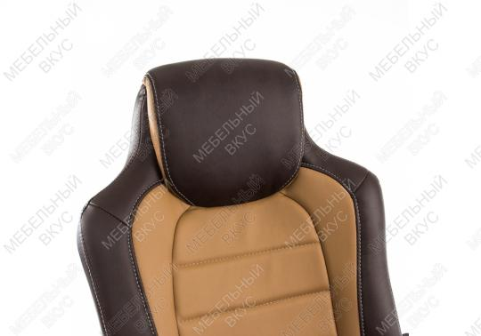 Игровое компьютерное кресло Kadis коричневое / бежевое-3