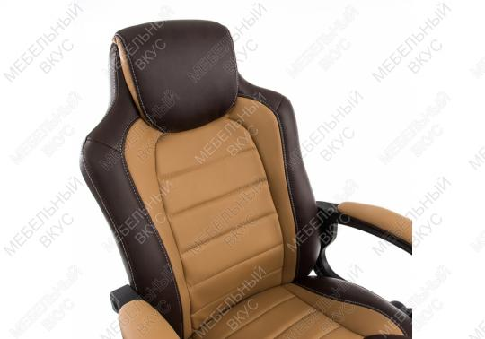 Игровое компьютерное кресло Kadis коричневое / бежевое-2