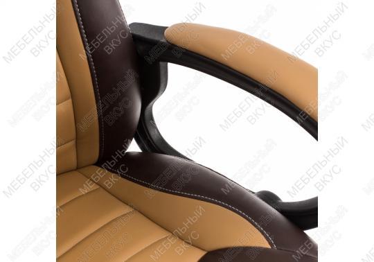 Игровое компьютерное кресло Kadis коричневое / бежевое-1