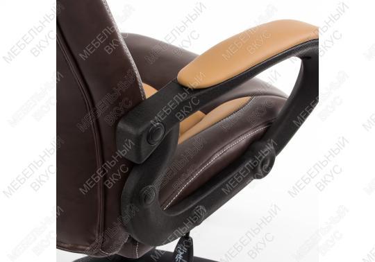 Игровое компьютерное кресло Kadis коричневое / бежевое-7
