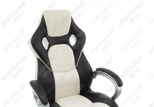 Игровое компьютерное кресло Navara кремовое / черное-5