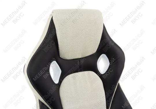 Игровое компьютерное кресло Navara кремовое / черное-3