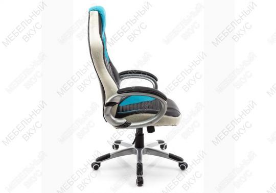 Игровое компьютерное кресло Roketas голубое-5
