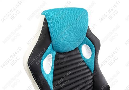 Игровое компьютерное кресло Roketas голубое-4
