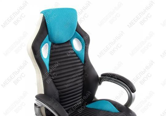 Компьютерное кресло Roketas голубое-3
