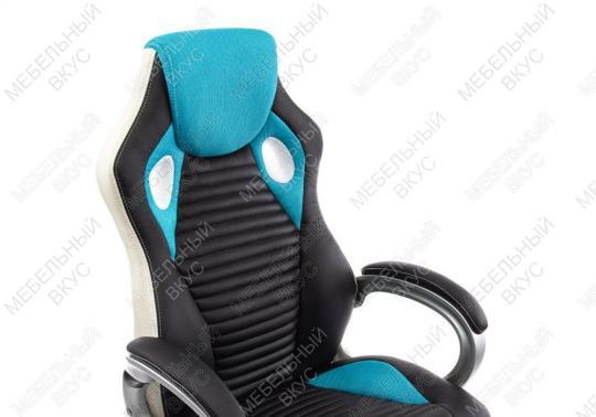 Игровое компьютерное кресло Roketas голубое-3