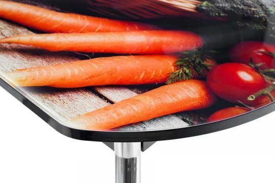 """Стол Сиена-Мини со стеклом фотопечать """"Овощи"""" (750 х 1120/1440 х 650)-5"""