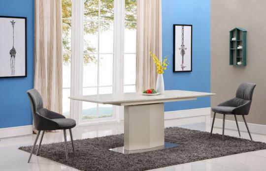 Стол обеденный SH-170 Cream МДФ+стекло-1