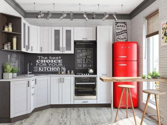 Кухня Лофт (Snow Veralinga) угловая-1