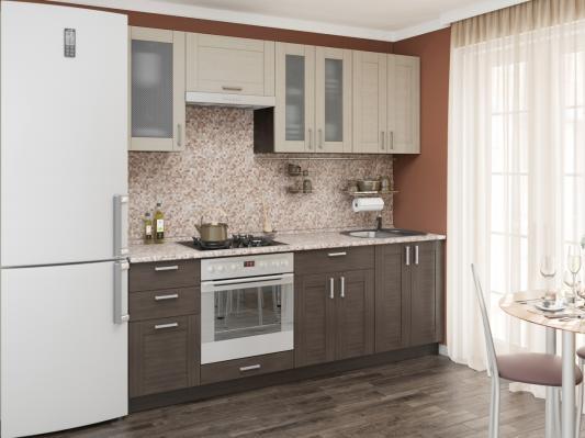 Кухня Лофт (Cappuccino Veralinga/Wenge Veralinga) -3