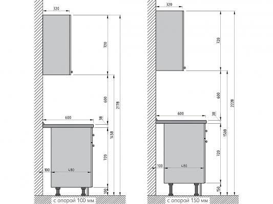 Кухня угловая Валерия-М (Дуб беленый/Венге)-1