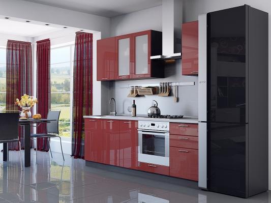 Кухня угловая Валерия-М (Гранатовый металлик)-2