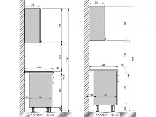 Кухня Прованс угловая (Голубой)-1