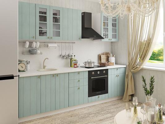 Кухня Прованс угловая (Голубой)-2