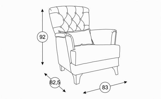 Кресло Ирис ТД 942-1