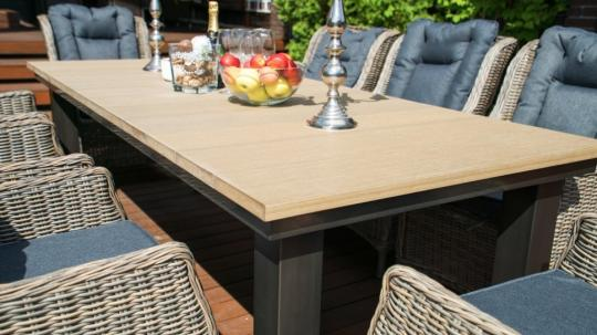 Обеденная группа: стол Парклэнд + 8 кресел Верона-5