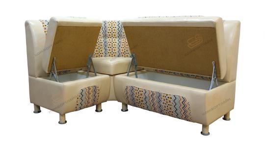 Кухонный угловой диван СЕНАТОР с ящиками-8