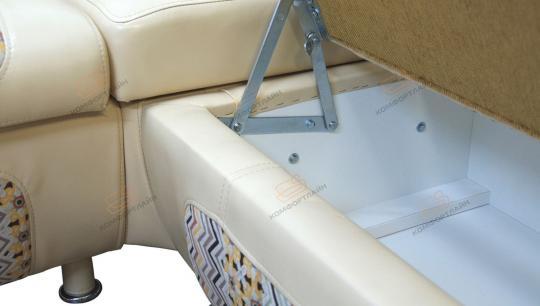 Кухонный угловой диван СЕНАТОР с ящиками-10