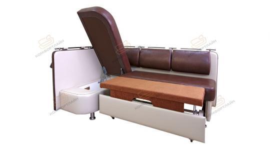 Угловой кухонный диван Метро со спальным местом дельфин-3