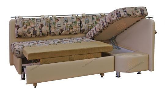 Угловой кухонный диван Метро со спальным местом дельфин-1