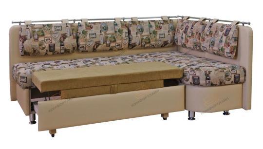 Угловой кухонный диван Метро со спальным местом дельфин-2
