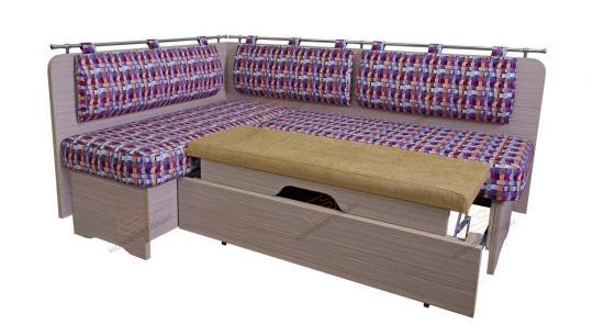 Кухонный угловой диван Стокгольм со спальным местом-1