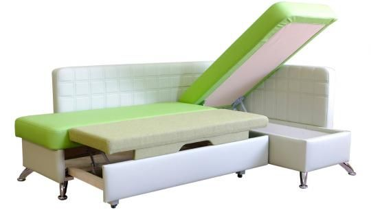 Кухонный угловой диван Фреш со спальным местом -4