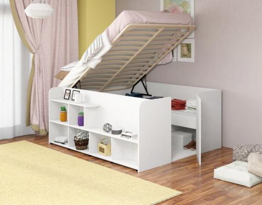 Двуспальная кровать Твист Ап (Twist Up) Белая-4
