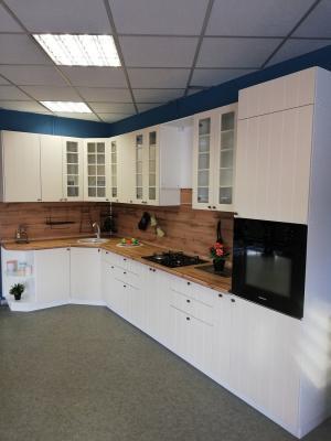 Кухня Прованс угловая (Ваниль)-5