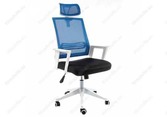 Компьютерное кресло Dreamer белое / черное / голубое-1