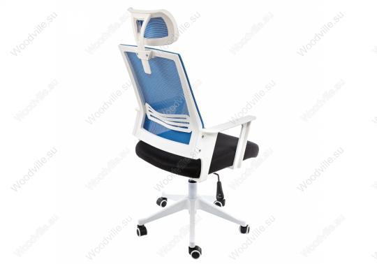 Компьютерное кресло Dreamer белое / черное / голубое-2