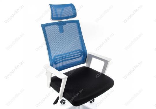 Компьютерное кресло Dreamer белое / черное / голубое-4