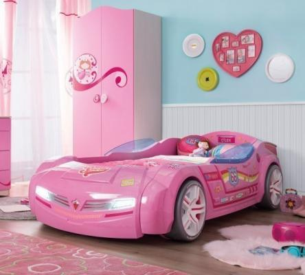 Кровать-машина BiTurbo розовая Carbed 1337-1