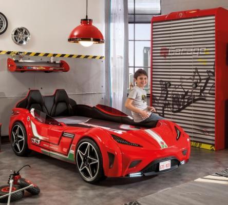 Кровать-машина GTS красная Carbed 1350-1