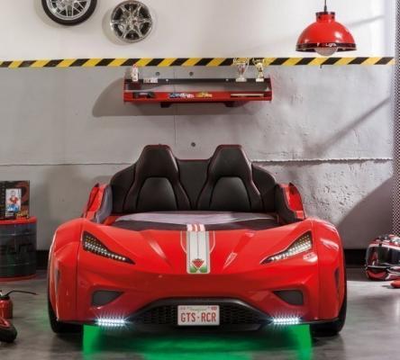 Кровать-машина GTS красная Carbed 1350-2