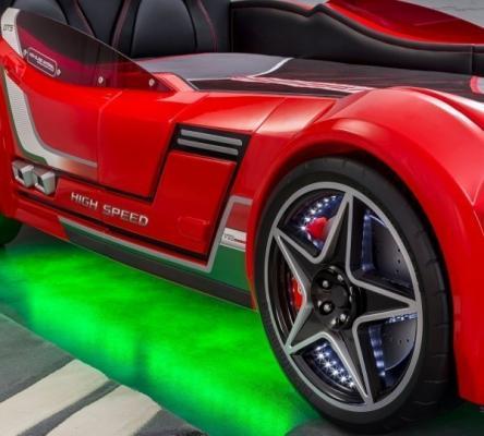 Кровать-машина GTS красная Carbed 1350-3