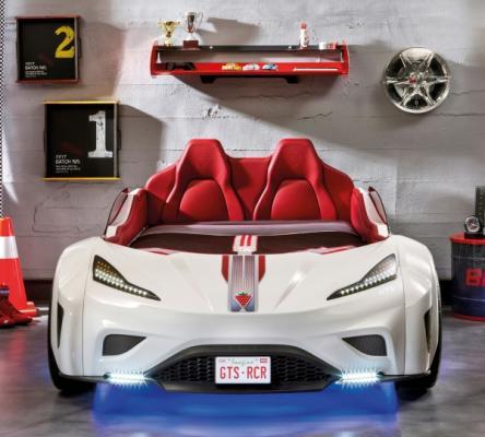 Кровать-машина GTS белая Carbed 1351-2