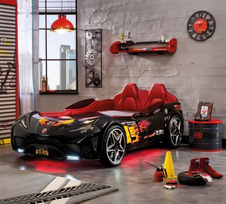 Кровать-машина GTS черная Carbed 1352-1